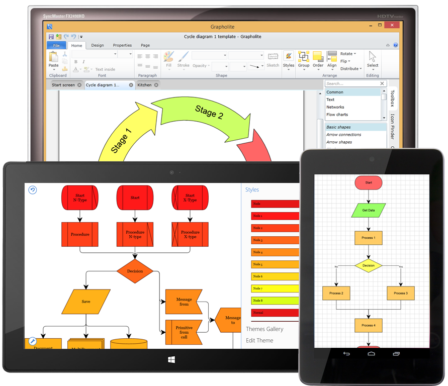 Diagrams Designer for Android and Windows 8