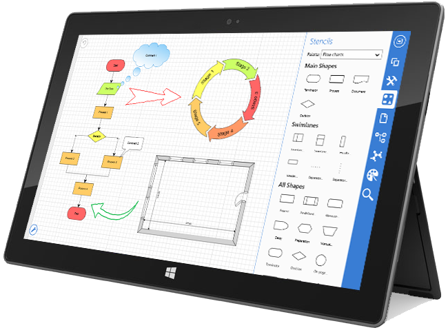 Windows 10  Ipad  Android And Desktop Diagramming  Floor
