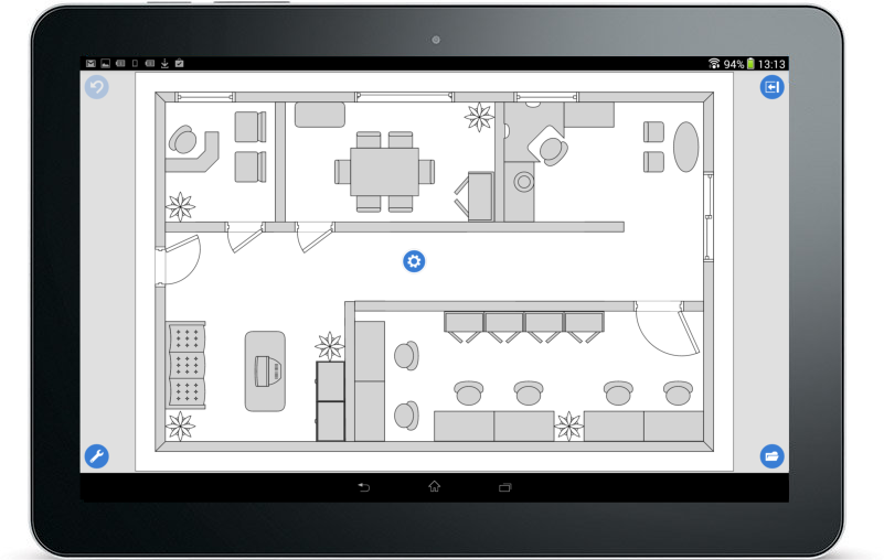 Windows 10 ipad android and desktop diagramming floor planning android diagrams ccuart