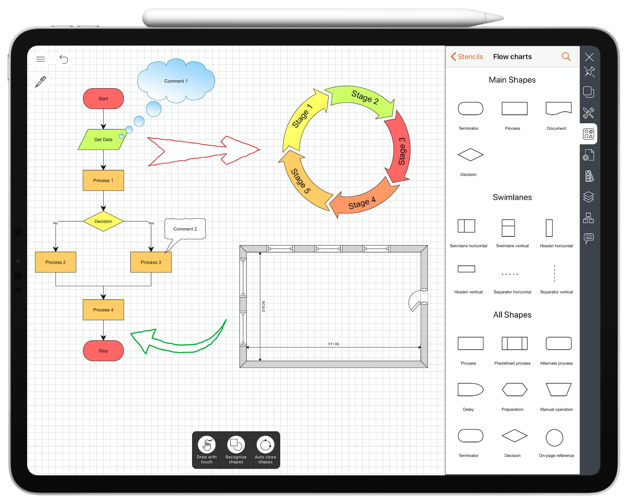 Diagrams maker for iPad