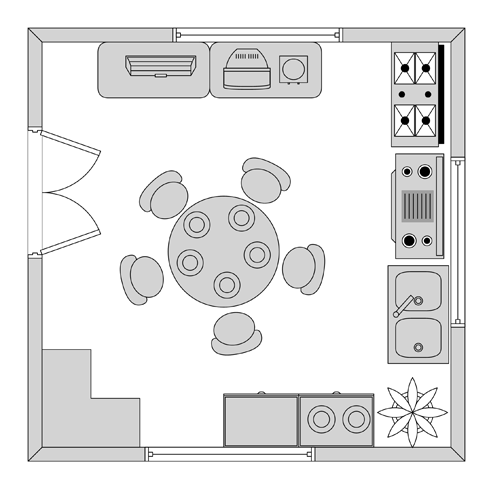 Kitchen Floor Plan Example